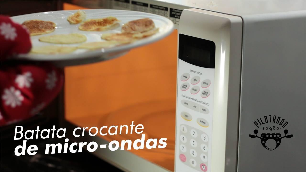 Batata Crocante de Micro-ondas