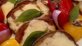 Berinjela Empanada Com Legumes Salteados, Uma Receita Super Saudável!