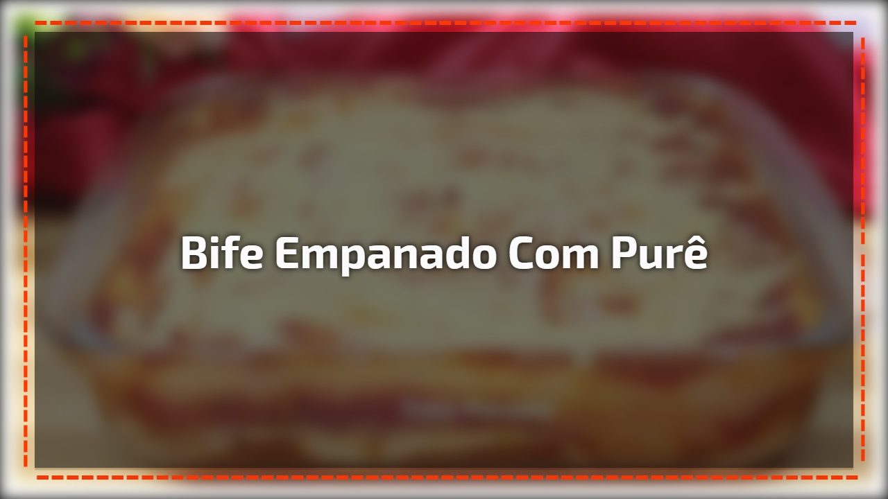 Bife empanado com purê