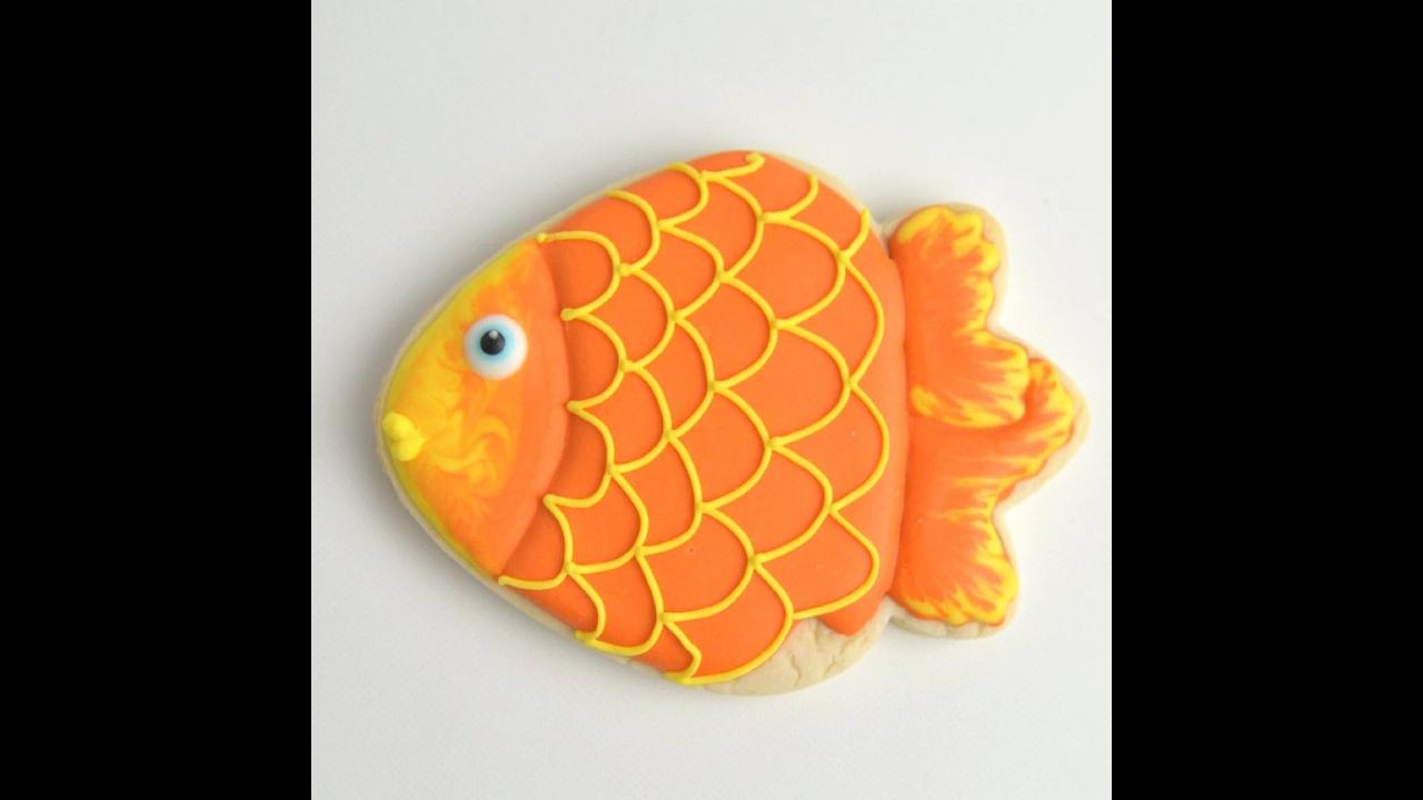 Biscoito com decoração de peixinho