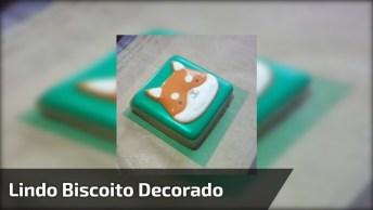 Biscoito Decorado, A Técnica Usada É Bem Interessante, Confira!