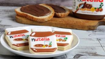Biscoito Decorado Com Aparência De Pote De Nutella, Ficou Lindo!
