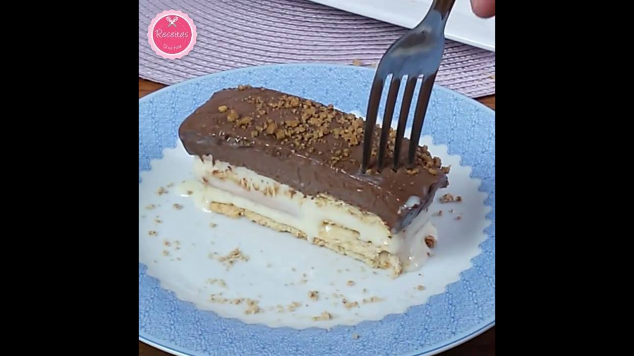 Biscoito Gelado de Leite Condensado