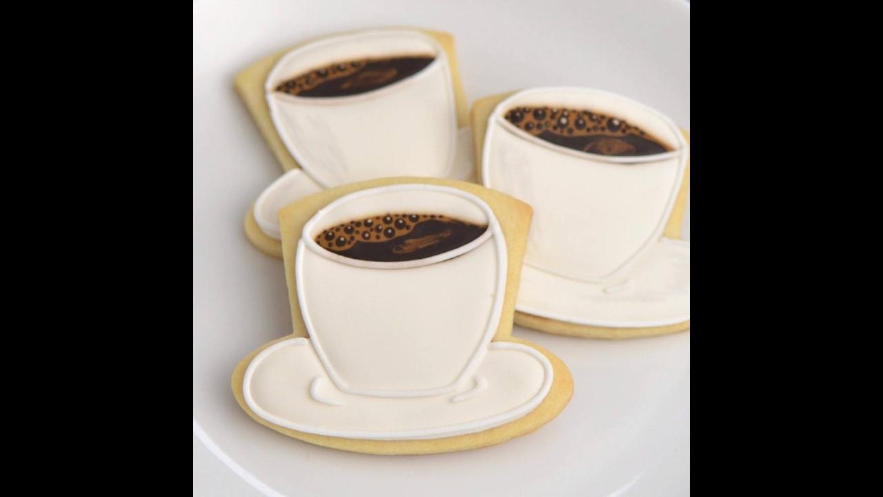 Biscoito xícara de café