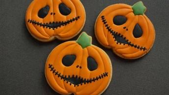 Biscoitos Abóboras Assombradas Para O Halloween, Mais Uma Ideia Incrível!