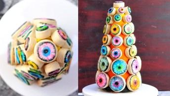 Biscoitos Com Decoração De Olhos Para Halloween, Mais Uma Boa Ideia!