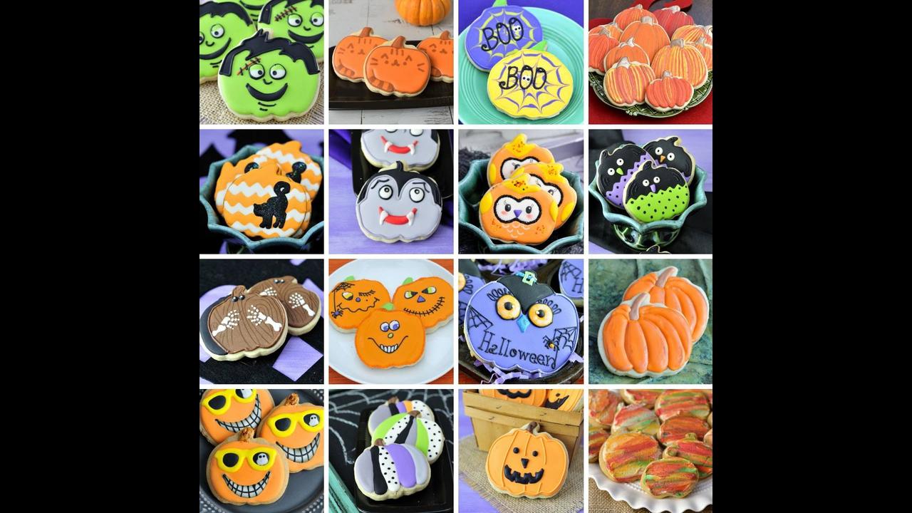 Biscoitos com tema de Halloween