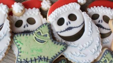 Biscoitos Decorados Com Personagens De Natal Assombrados, Para Halloween!