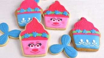 Biscoitos Decorados Com Tema Cupcake, Uma Decoração Super Divertida!