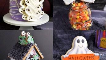 Biscoitos Decorados Com Tema De Halloween, Todas Ideias São Hilárias!