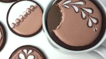Biscoitos Decorados Com Temas De Café Expresso, Mais Uma Novidade Para Aprender!