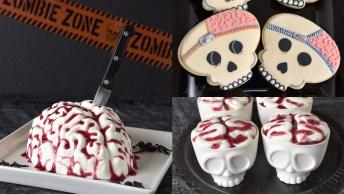 Biscoitos E Doces Com Decoração Para Halloween, Bem Divertidos, Confira!
