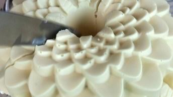 Bolo Bombom De Chocolate Branco Com Morangos, Ele É Gigante!