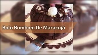 Bolo Bombom Gigante De Maracujá E Chocolate, Uma Delicia!