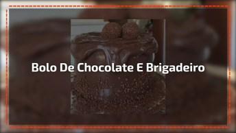 Bolo Com Cobertura De Chocolate Escorrendo, Esse É Para Dar Água Na Boca!