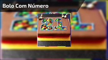 Bolo Com Número Cheio De Confeitos Coloridos, Uma Ideia Simples E Bonita!