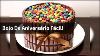 Bolo De Aniversário Fácil E Criativo De Confete De Chocolate Para Presentear!