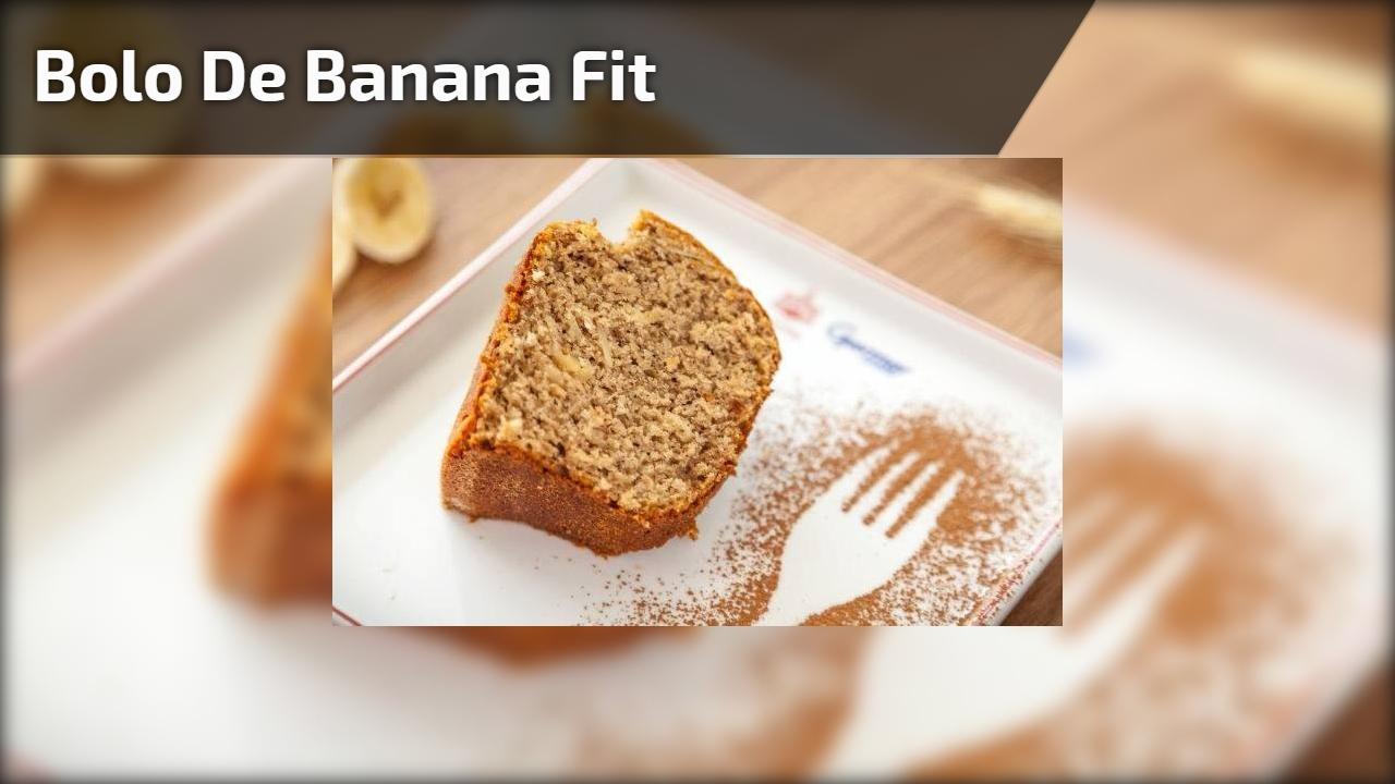Bolo de Banana Fit