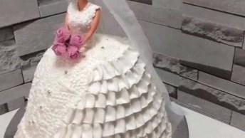 Bolo De Boneca, Aprenda A Fazer Esse Lindo Bolo Para Casamento!
