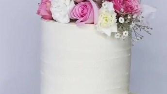 Bolo De Camadas Para Casamento, Até Que Não É Tão Difícil De Fazer!