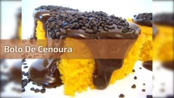 Bolo De Cenoura Com Muita Cobertura De Chocolate, Imagina Como Isso Esta Bom!