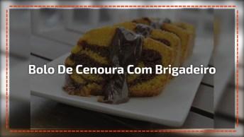 Bolo De Cenoura Recheado Com Brigadeiro, Uma Sobremesa Incrível!