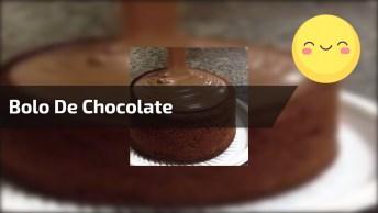 Bolo De Chocolate Com Muito Brigadeiro, Olha Só Que Delicia!