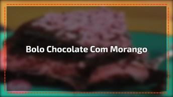 Bolo De Chocolate Com Recheio De Morango, Uma Maravilha De Bolo!