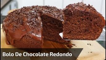 Bolo De Chocolate, Ele Parece Ficar Muito Bom, Confira!