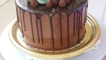 Bolo De Chocolate Lindo, Veja Como Ele Ficou No Final, Maravilhoso!