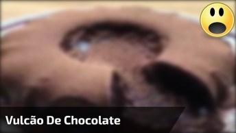 Bolo De Chocolate Vulcão, Olha Só Que Maravilha De Sobremesa!