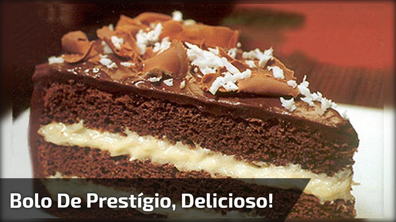 Bolo de Prestígio, delicioso!