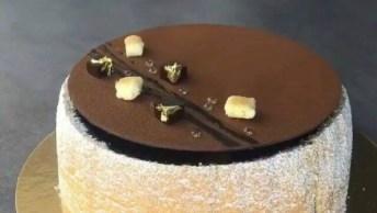 Bolo Diferente De Chocolate, Super Sofisticado E Bonito!
