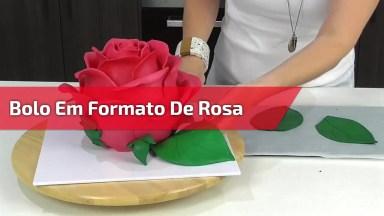 Bolo Em Formato De Rosa, Uma Obra De Arte Em Forma De Bolo!