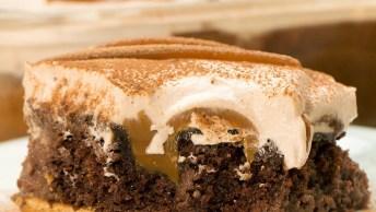 Bolo Furadinho De Chocolate Com Doce De Leite - Uma Delicia!