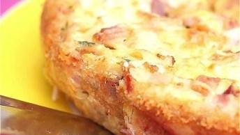 Bolo Omelete Com Queijo E Bacon, Uma Delicia Para Variar No Cardápio!