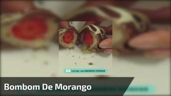 Bombom De Morango, Quem Não Ama Um Doce Assim? Confira!
