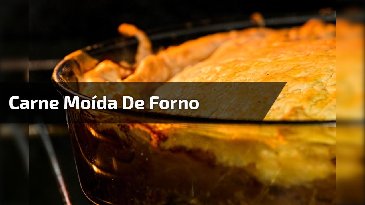 Carne moída de forno com molho, presunto e queijo, uma delicia!