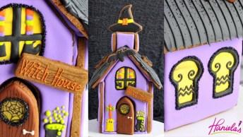 Casinha De Biscoito Decorado Com Tema ' A Casa Da Bruxa', Confira!