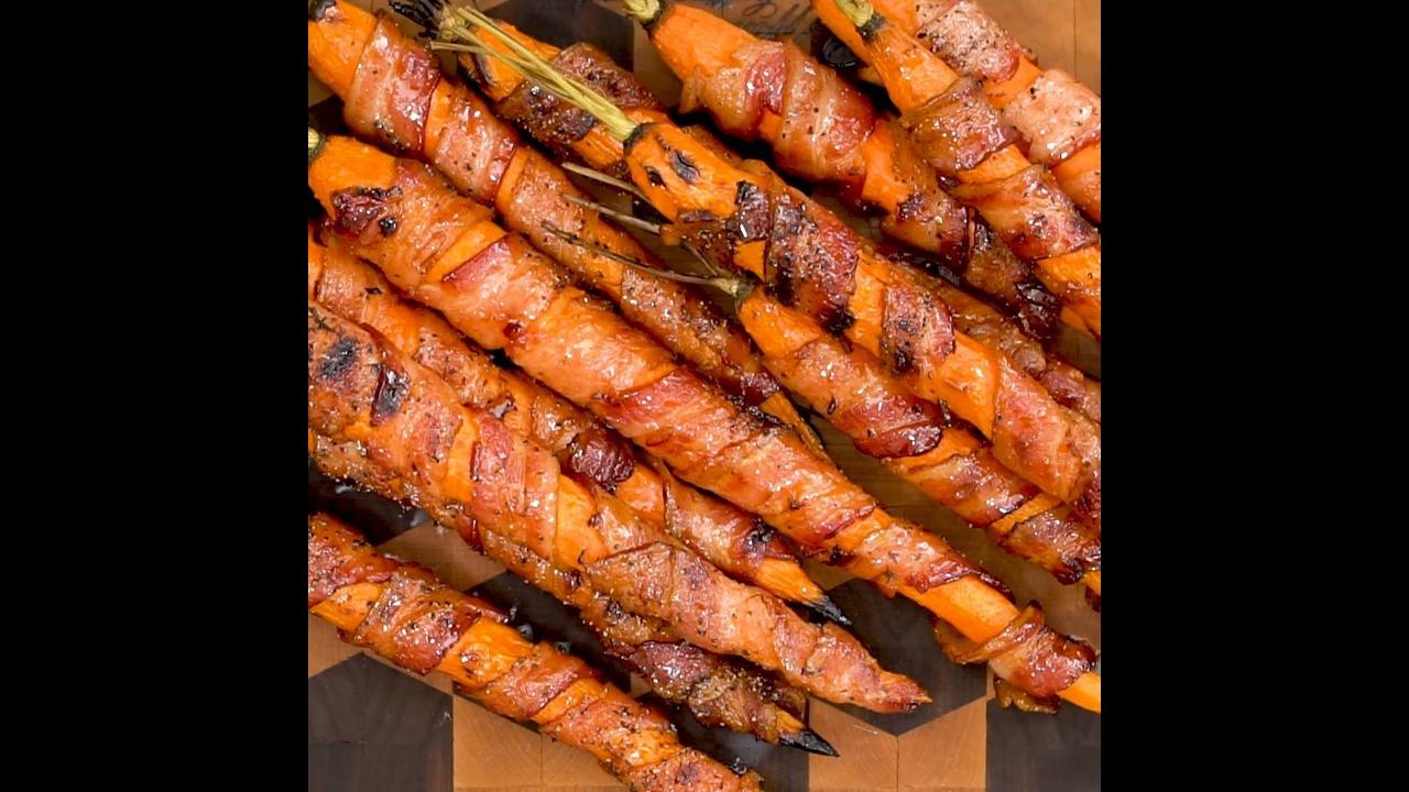 Cenouras assadas com Bacon