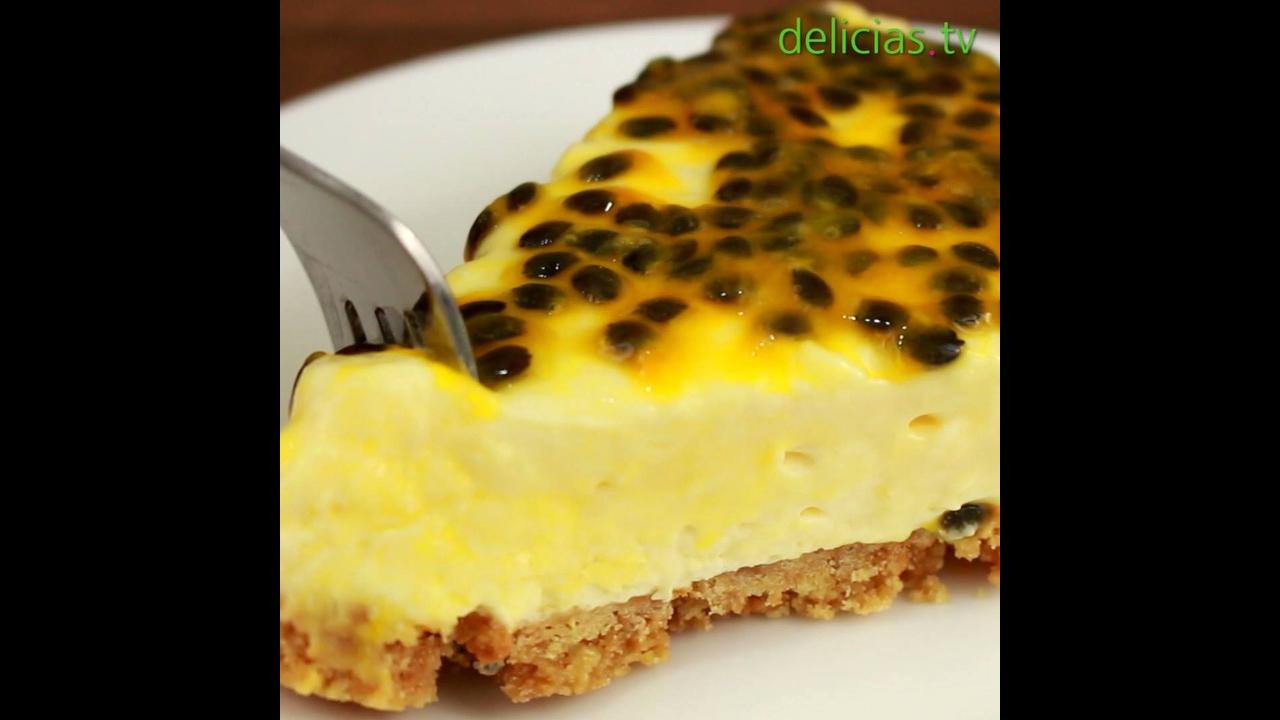 Cheesecake de Maracujá, uma maravilha de receita para sobremesa!