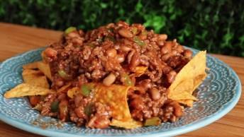 Chili Com Carne, Uma Receita Que Merece Ser Postada Nas Redes Sociais!