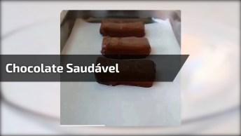 Chocolate Com Recheio De Coco Saudável, Que Delicia E Fácil De Fazer!