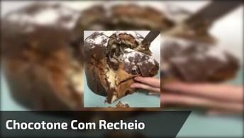 Chocotone Com Recheio De Chocolate Cremoso, Para Fazer Você Passar Vontade!