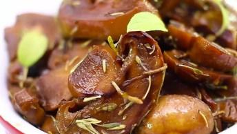 Cogumelos Light Ao Forno - Um Jeito Diferente De Preparar Essa Delicia!