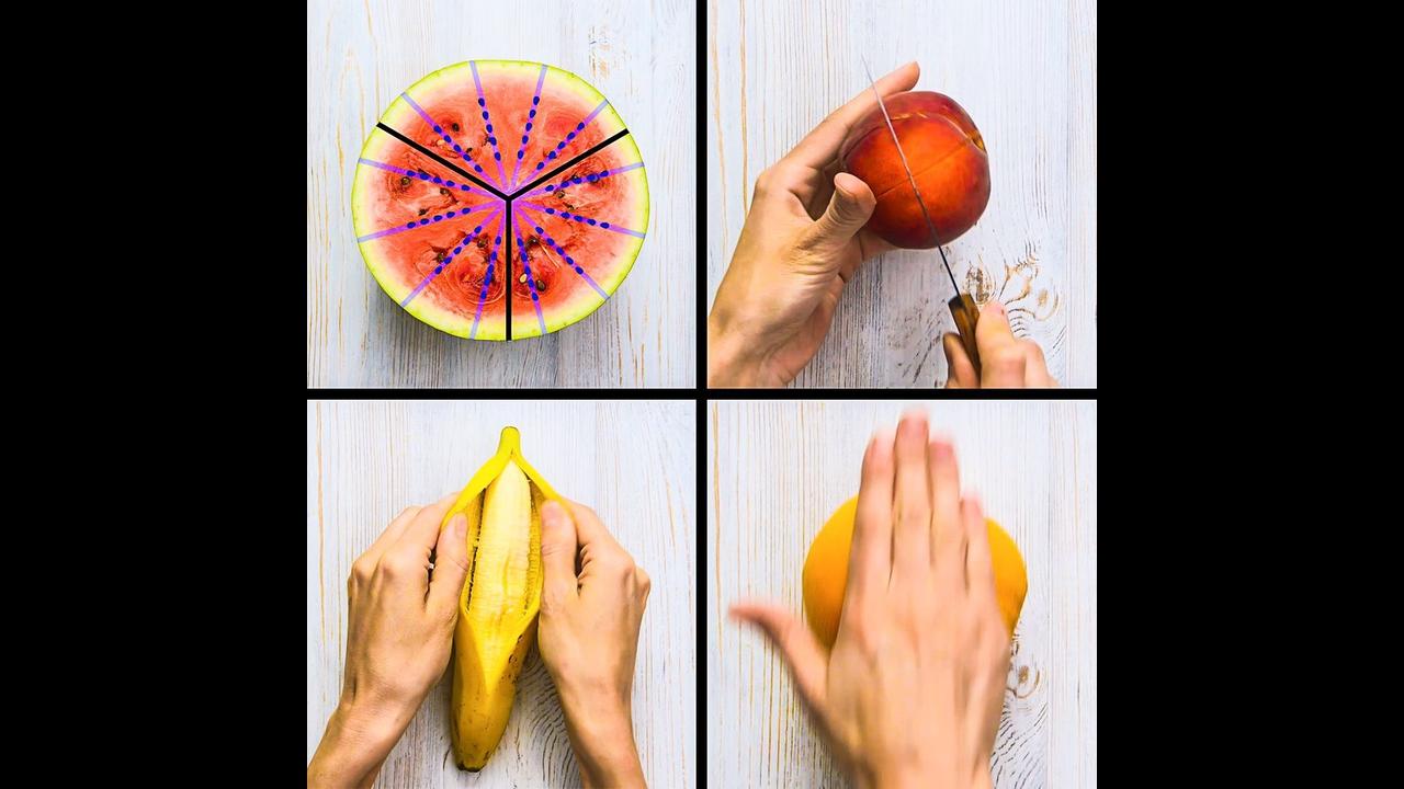 Como descascar e cortar frutas de maneira correta