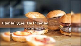 Como Faz Hambúrguer De Picanha? Aprenda Nesse Vídeo E Bom Apetite!