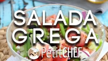 Como Fazer A Salada Grega? Um Prato Colorido E Super Saudável!