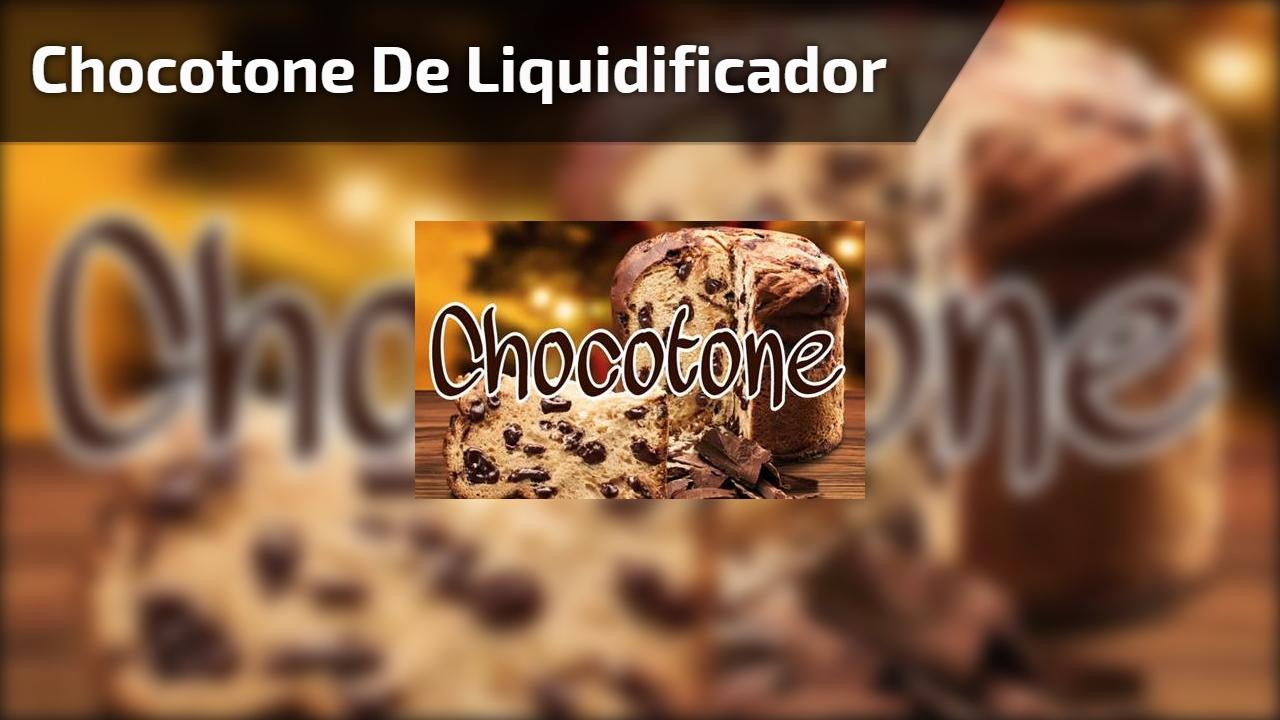 Chocotone de liquidificador