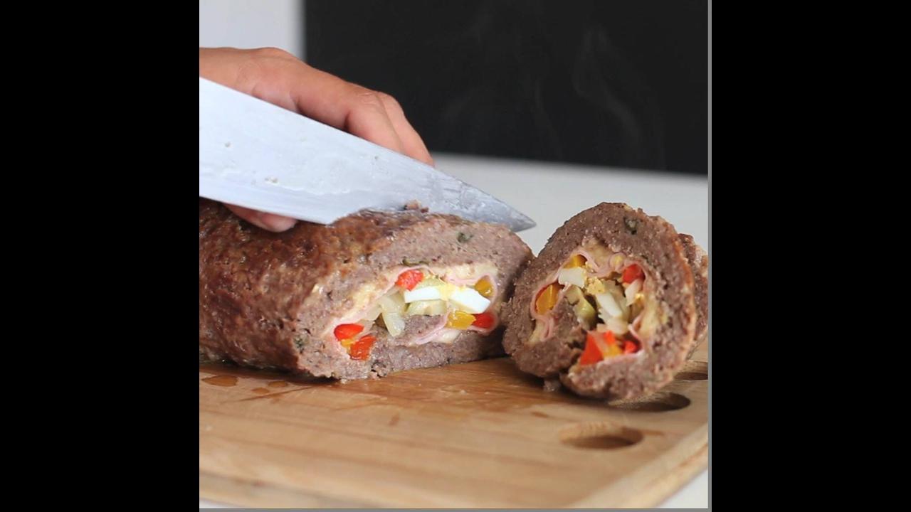 Como fazer rocambole de carne